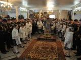 В праздник Благовещения Пресвятой Богородицы епископ Боярский Феодосий совершил Литургию в Петропавловском храме на Нивках